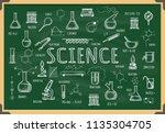 board with school chemistry.... | Shutterstock .eps vector #1135304705