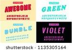 a set text alphabet effect...   Shutterstock .eps vector #1135305164