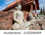 wat yai chai mongkhol in... | Shutterstock . vector #1135306349