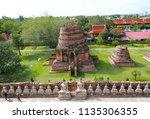 wat yai chai mongkhol in... | Shutterstock . vector #1135306355