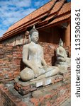 wat yai chai mongkhol in... | Shutterstock . vector #1135306361