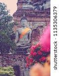 wat yai chai mongkhol in... | Shutterstock . vector #1135306379