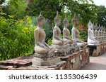 wat yai chai mongkhol in... | Shutterstock . vector #1135306439