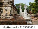 wat yai chai mongkhol in... | Shutterstock . vector #1135306451