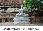 wat yai chai mongkhol in... | Shutterstock . vector #1135306469
