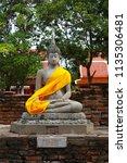 wat yai chai mongkhol in... | Shutterstock . vector #1135306481