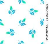 beautiful light delicate leaves.... | Shutterstock .eps vector #1135309031