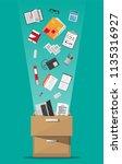office furniture. case  box... | Shutterstock .eps vector #1135316927