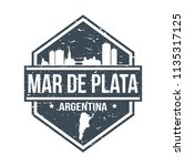 mar de plata argentina travel... | Shutterstock .eps vector #1135317125