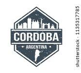 cordoba argentina travel stamp... | Shutterstock .eps vector #1135317785