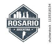 rosario argentina travel stamp... | Shutterstock .eps vector #1135318154