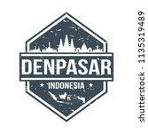 denpasar indonesia travel stamp ... | Shutterstock .eps vector #1135319489