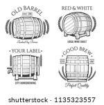 barrel retro emblems. vector...   Shutterstock .eps vector #1135323557