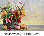 Autumn Floral Composition In...