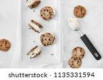 chocolate chip cookie vanilla... | Shutterstock . vector #1135331594
