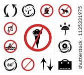 set of 13 simple editable icons ... | Shutterstock .eps vector #1135331975