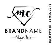 monogram   initial mc for...   Shutterstock .eps vector #1135332341