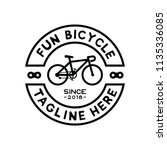 hipster fun bicycle logo design | Shutterstock .eps vector #1135336085