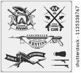 set of scuba diving emblems.... | Shutterstock .eps vector #1135338767