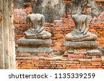 wat yai chai mongkhol in... | Shutterstock . vector #1135339259