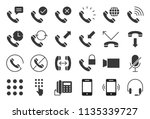 vector basic phone and call... | Shutterstock .eps vector #1135339727