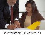 boss advice business women or... | Shutterstock . vector #1135339751