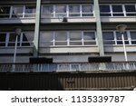 1950's shopping building.... | Shutterstock . vector #1135339787