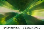 3d rendering of space flight to ... | Shutterstock . vector #1135342919