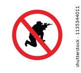 no gun sign.vector illustration. | Shutterstock .eps vector #1135344011