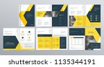 template layout design with... | Shutterstock .eps vector #1135344191