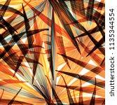 palm monstera seamless pattern. ... | Shutterstock .eps vector #1135344554