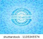 gold membership sky blue emblem ... | Shutterstock .eps vector #1135345574