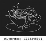 stylized series of the tender... | Shutterstock . vector #1135345931