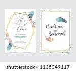 geometry gold wedding... | Shutterstock .eps vector #1135349117