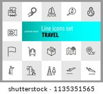 travel icons. set of line icons.... | Shutterstock .eps vector #1135351565