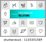 relations icons. set of line... | Shutterstock .eps vector #1135351589