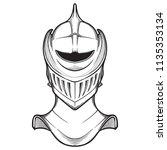 late medieval european helmet... | Shutterstock .eps vector #1135353134