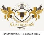 heraldic coat of arms  vintage... | Shutterstock .eps vector #1135354019