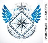 heraldic signs vector vintage... | Shutterstock .eps vector #1135354241