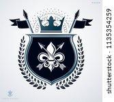 vintage decorative emblem ... | Shutterstock .eps vector #1135354259