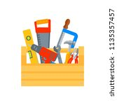 repair and construction tools... | Shutterstock .eps vector #1135357457