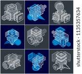 abstract constructions vector... | Shutterstock .eps vector #1135357634