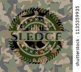 sledge on camo texture | Shutterstock .eps vector #1135359935