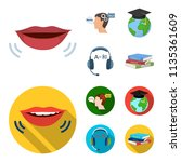 the mouth of the person... | Shutterstock .eps vector #1135361609