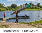 polotsk  belarus   july 6  2018 ...   Shutterstock . vector #1135365374