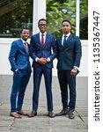 three african american happy... | Shutterstock . vector #1135367447