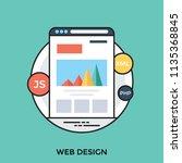 graphical illustration on web... | Shutterstock .eps vector #1135368845