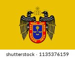 flag of lima is the capital and ... | Shutterstock .eps vector #1135376159