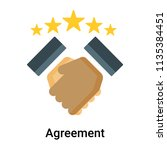 agreement icon vector isolated... | Shutterstock .eps vector #1135384451