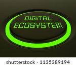 digital eco system data... | Shutterstock . vector #1135389194